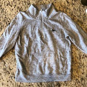 PINK grey half zip